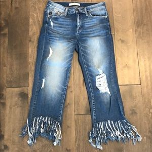 Kancan cropped flare Jeans